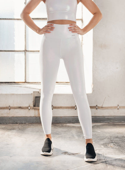 WHITE SHINE ON TIGHTS aim'n sportswear