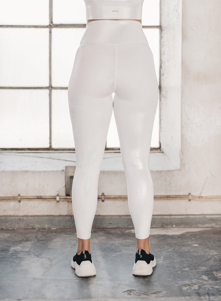 WHITE SHINE ON TIGHTS