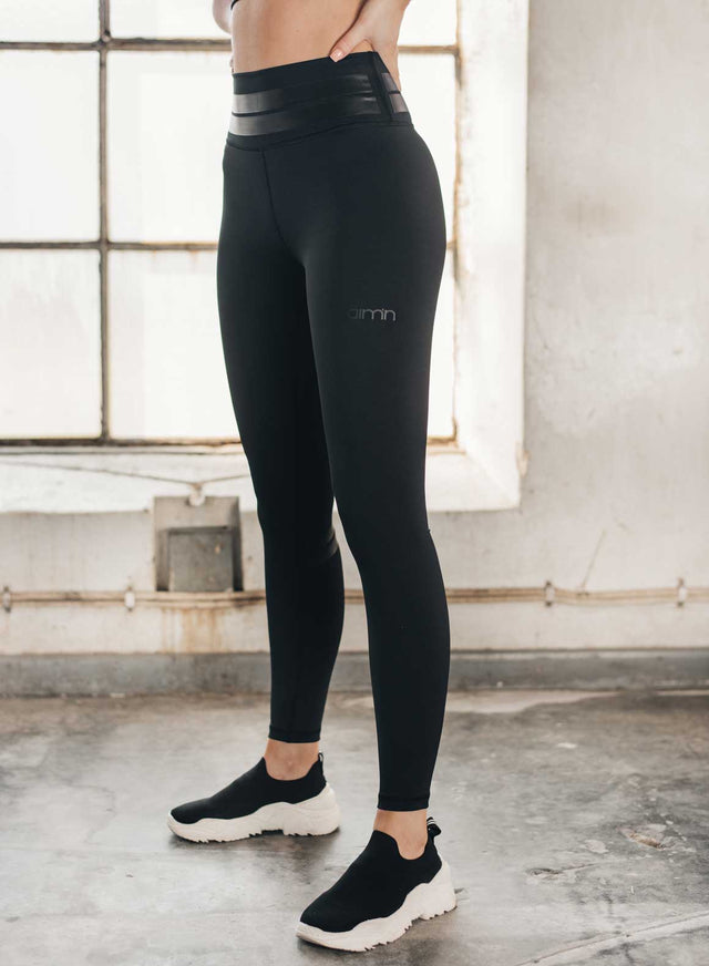 All Black Line Up Tights aim'n sportswear