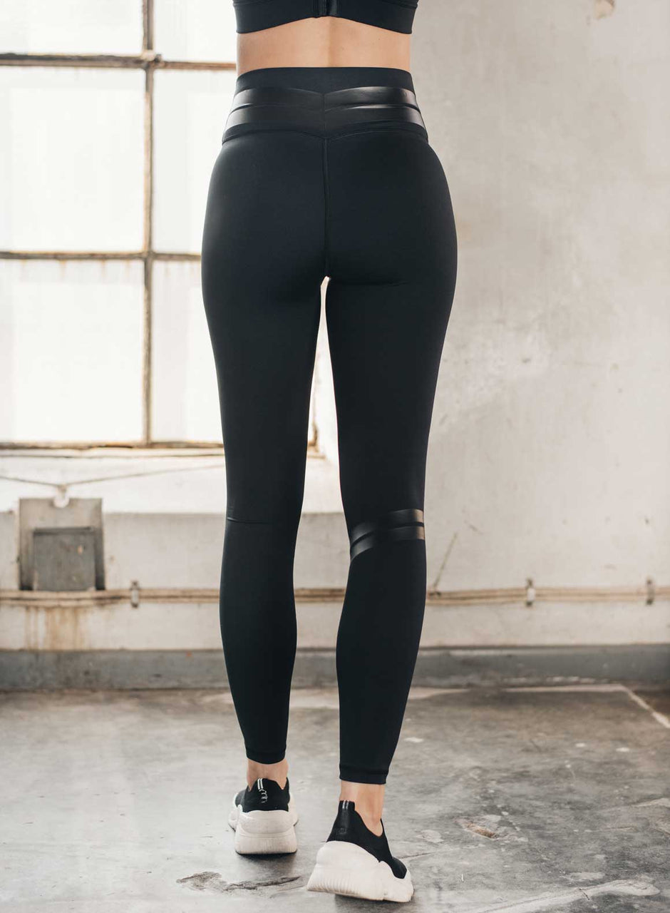 All Black Line Up Tights