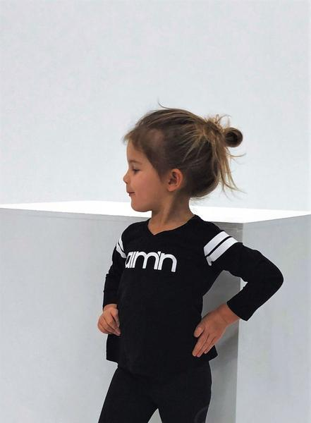 Black Mini Logo Long Sleeve
