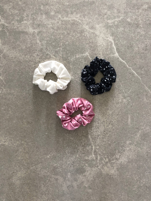3-PACK SCRUNCHIE PINK SPOTLESS/SPOTLESS/WHITE