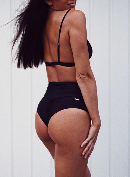 Black High Waist Bikini Bottom