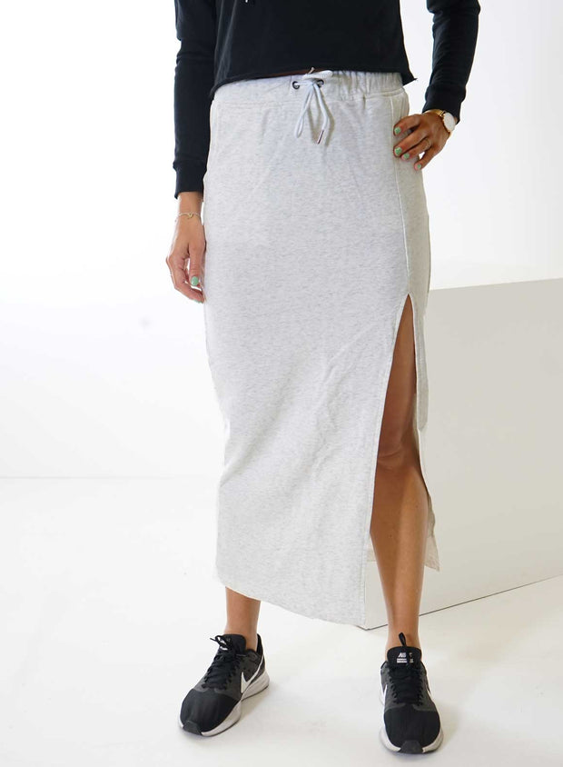 Grey Long Sweat Skirt