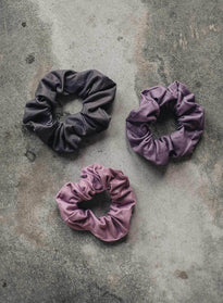 3-PACK SCRUNCHIE SUNSET HAZE/CONCRETE/PALE PLUM