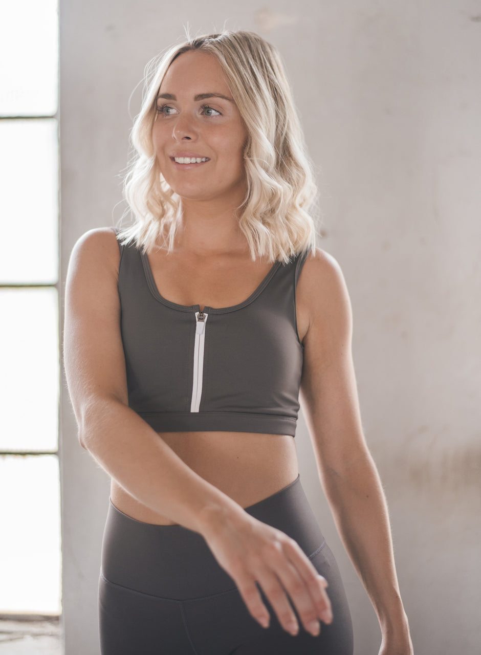 Concrete Zip Bra