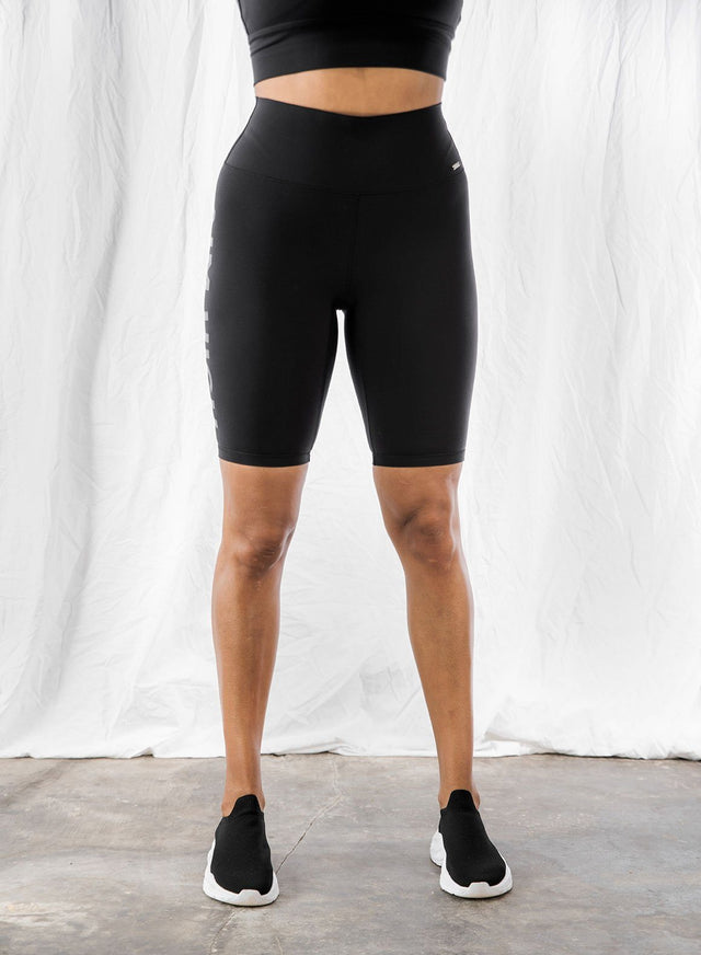 WORD BLACK SOFT BIKER SHORTS aim'n sportswear