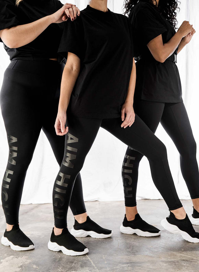 WORD BLACK SOFT TIGHTS