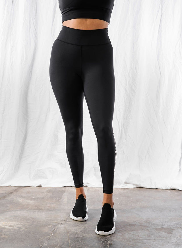 BLACK LOGO TIGHTS