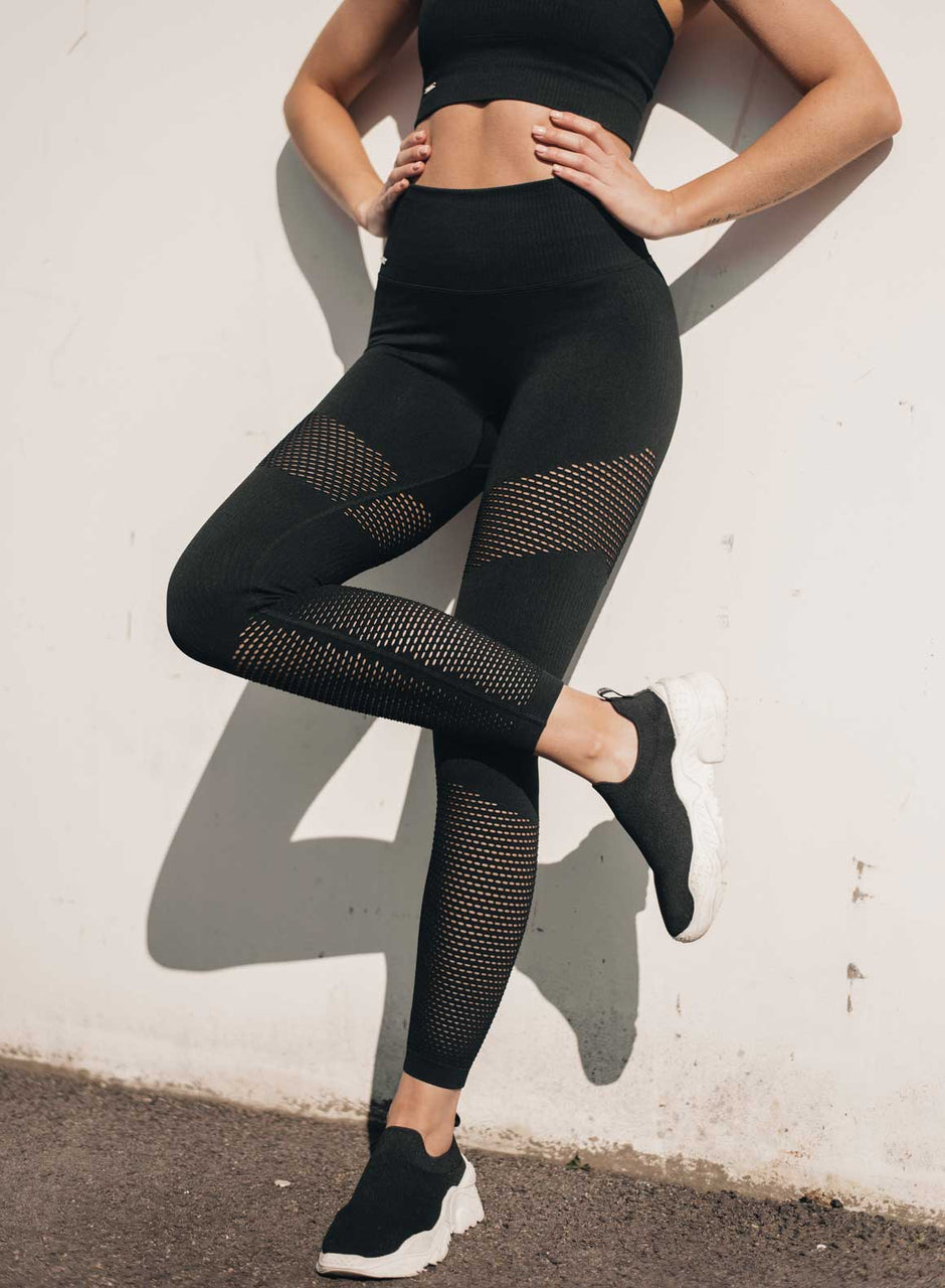 BLACK SEAMLESS BOOST TIGHTS