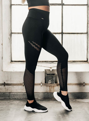 Black Statement Seamless Tights aim'n sportswear
