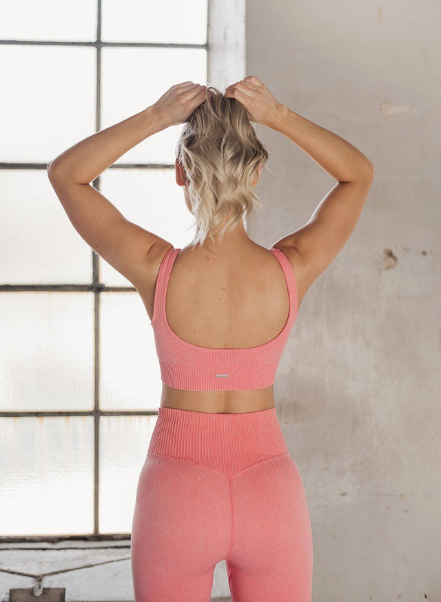 BUBBLEGUM WASHED RIBBED SEAMLESS BRA aim'n sportswear