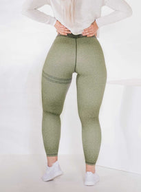 Green Melange Signature Tights
