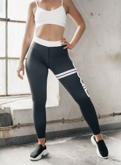 Black Stripe Tights aim'n sportswear