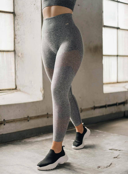 GREY MELANGE BOOST TIGHTS aim'n sportswear