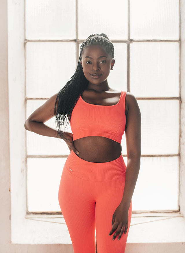 VITAMIN C RIBBED SEAMLESS BRA aim'n sportswear