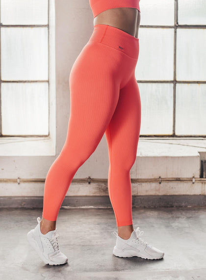 VITAMIN C RIBBED SEAMLESS TIGHTS