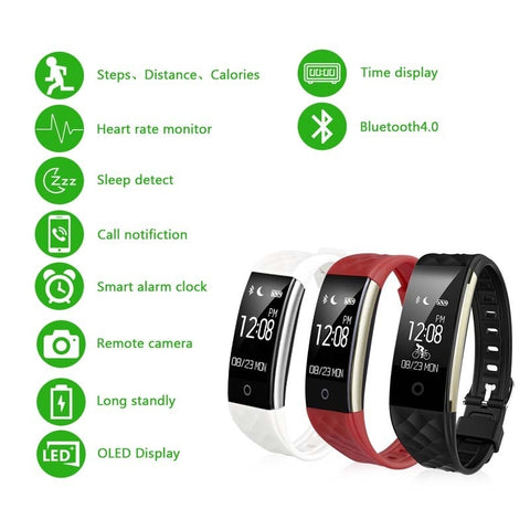 Waterproof Heart Rate Monitor Smart Sports Fitness Tracker