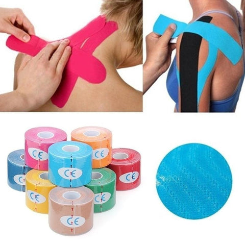 FREE! 1 Roll Kinesiology Muscle Tape 2.5cm/3.8cm/5cmX5M