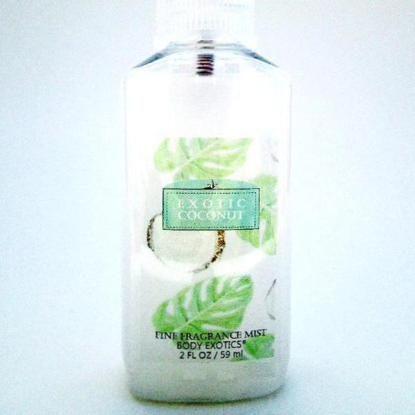 Exotic Coconut Fine Fragrance Mist Perfume by Body Exotics 2 Oz.