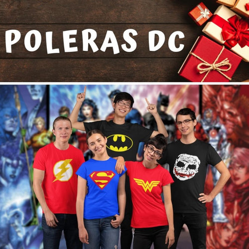 Polerones estampados Poleras estampadas DC Comics Superman Batman Wonder Woman Mujer Maravilla Joker Guason Flash Shazam Aquaman