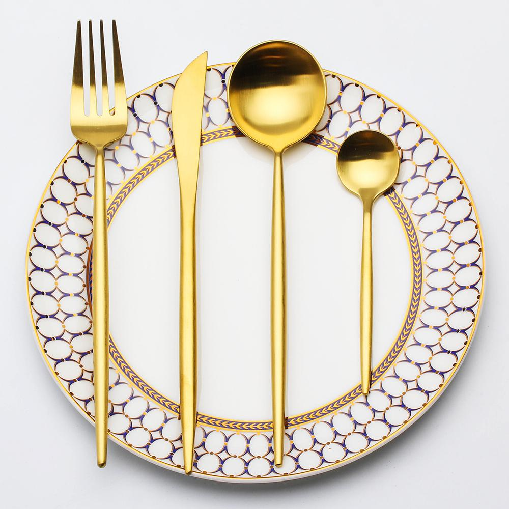 Golden Contemporary Cutlery Set