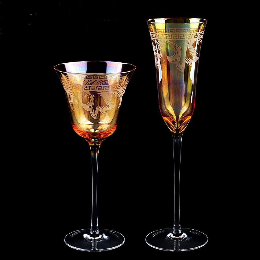 Twin Exotic Wine & Champagne glasses