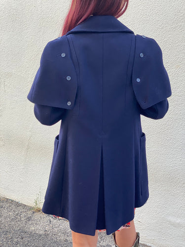 Vintage Sake Fifth Avenue Navy Great Coat