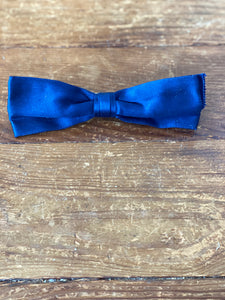 Chanel Blue Satin Bow Hair Clip