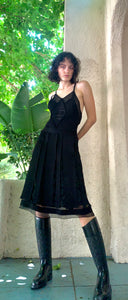 Classic Vintage Chanel Black Dress - The Curatorial Dept.