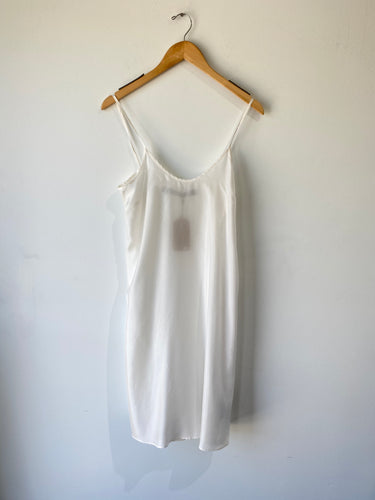 Raquel Allegra White Silk Full Slip - The Curatorial Dept.