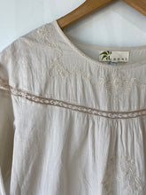 Local Brand Cream Dress with Lace and Embroidery - The Curatorial Dept.