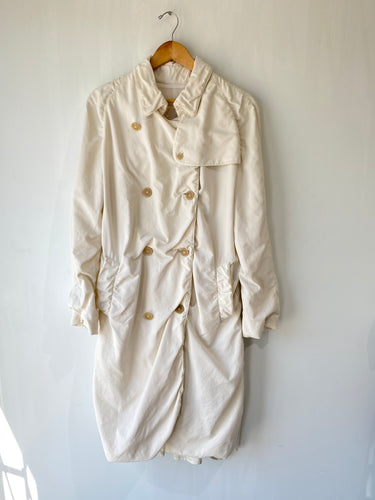 Vintage Burberry White Trench Coat - The Curatorial Dept.