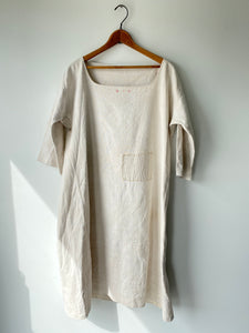 Vintage Victorian Linen Dress Initials MV - The Curatorial Dept.