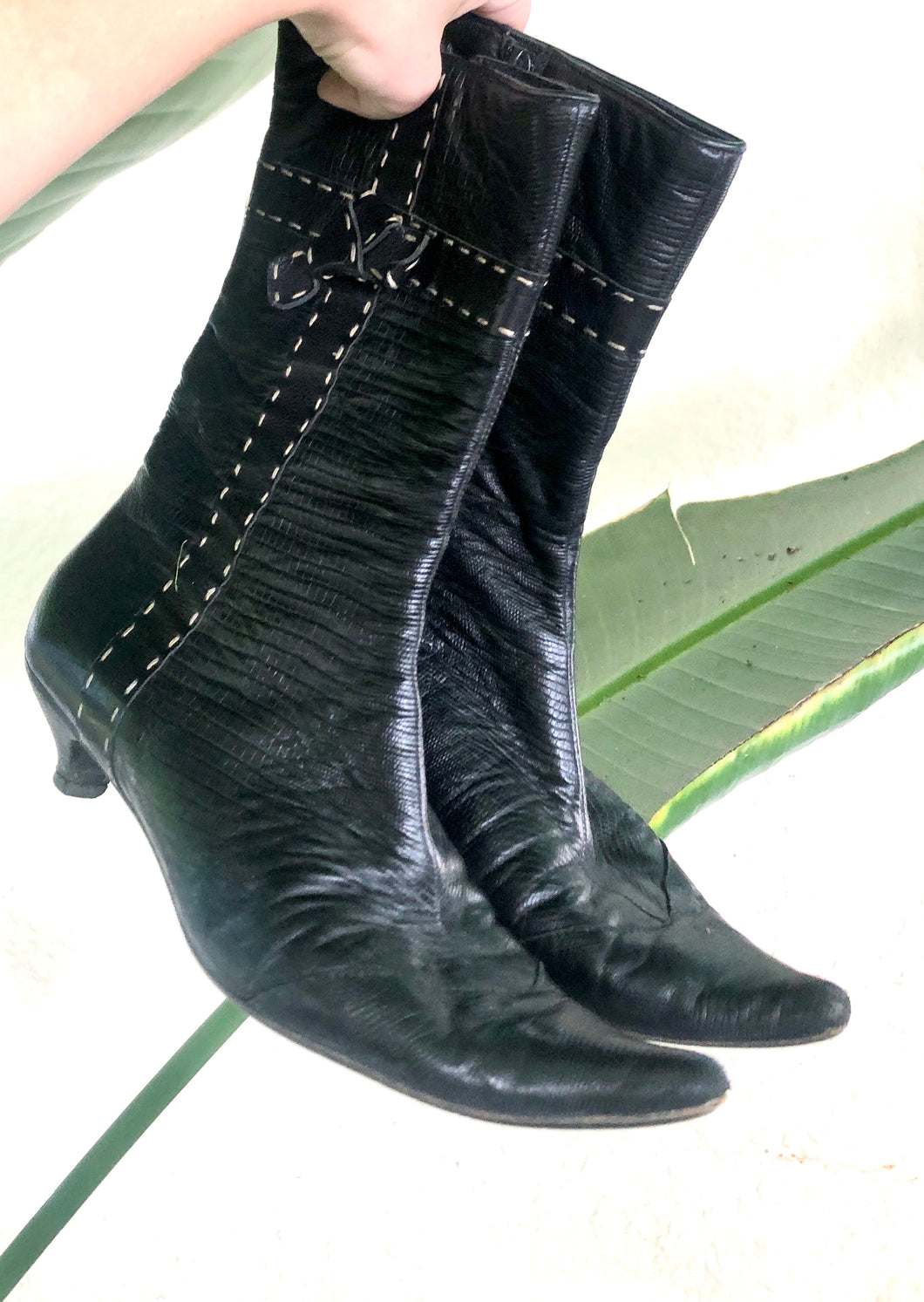 Vintage Henry Beguelin Black Boots - The Curatorial Dept.