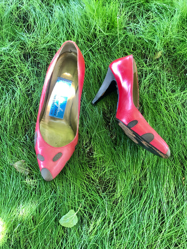 Vintage Thierry Mugler Ladybug Heels - The Curatorial Dept.
