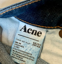 Acne Studios Dark Wash Medium Rise Straight Leg Jeans - The Curatorial Dept.