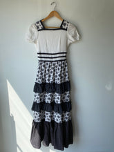Vintage Black and White Prairie Dress - The Curatorial Dept.