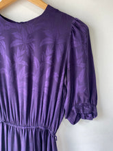 Vintage Deep Purple Silk Dress - The Curatorial Dept.