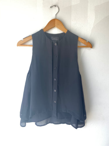Rachel Comey Black Silk Top - The Curatorial Dept.