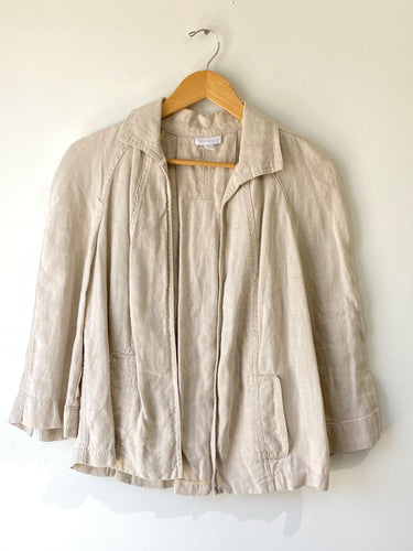 Vintage Charter Club Oatmeal Linen Jacket - The Curatorial Dept.