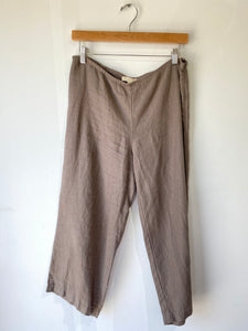 Eileen Fisher Cropped Linen Pants - The Curatorial Dept.