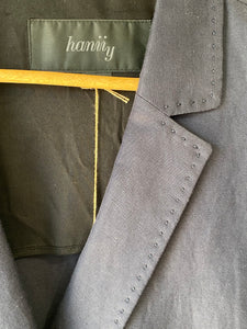 Hanii Y Navy Double Breasted Jacket - The Curatorial Dept.