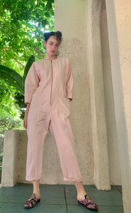 Apiece Apart Flame-Thrower Pink Jumpsuit - The Curatorial Dept.