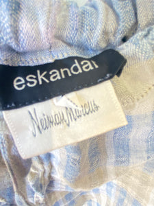Vintage Eskandar Plaid Linen Pants - The Curatorial Dept.