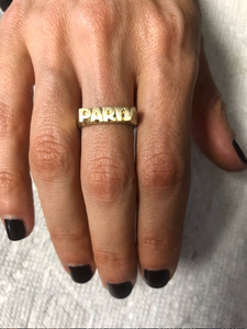 Party Ring in Sterling Silver or Brass
