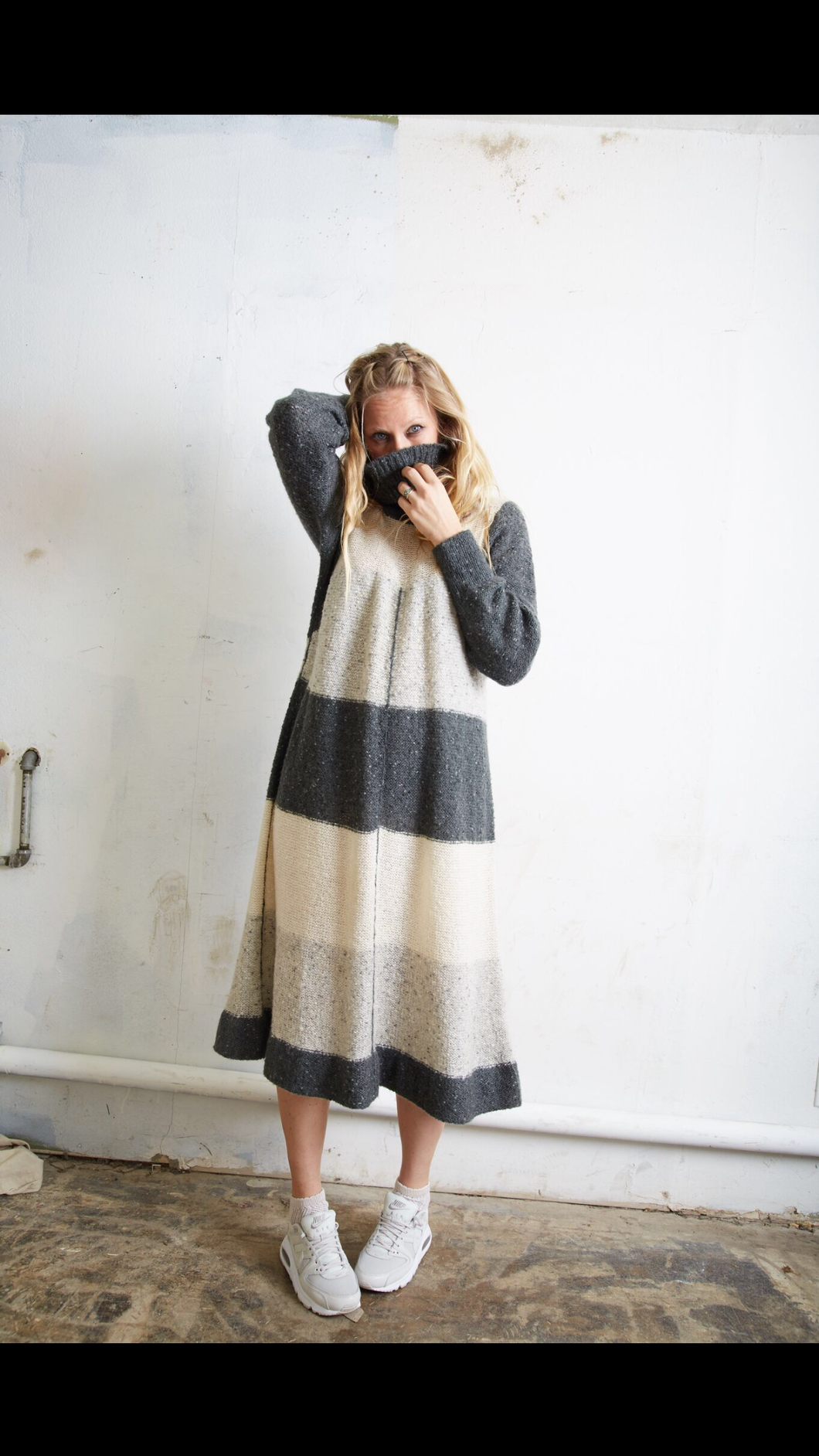 Vintage Tiered Sweater Dress