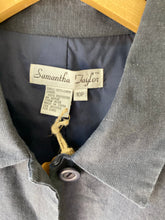 Vintage Navy Linen Jacket - The Curatorial Dept.
