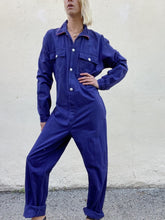 Vintage KLM Navy Blue Cotton Jumpsuit