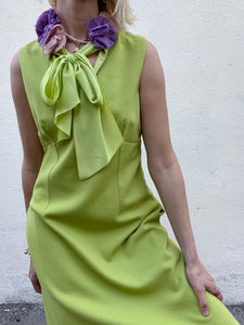 Vintage Moschino Chartreuse Dress